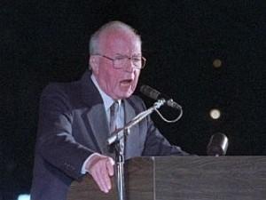 Rabin,Jicchak - politik,premiér Izrael - projev