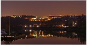 Autor: Saša Kirilov; Foto: Noční Bulovka, Libeňský most, 11. 2. 2006 Konica Minolta Dynax 5D, stativ