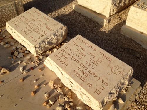 Graves_of_Moshe_Barazani_and_Meir_Feinstein,_2014