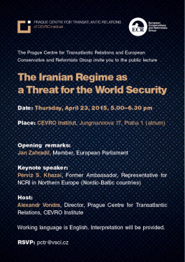 Poster_The Iranian Regime as a Threat for the World Security