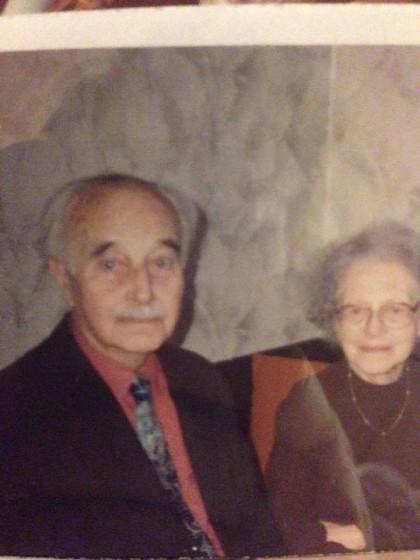 Eliška a druhý manžel Pavel Fenyvesi Fábry - komunista dělník