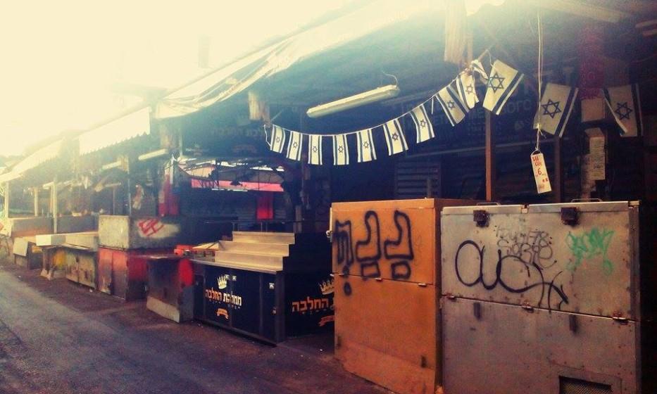 Tel Aviv, tržiště v Jemenské čtvrti v době šábesu.