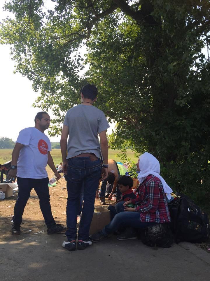 Pro změnu dobrovolník z arabským původem, leč pracovník slovenské organizace Magna. To oni zajišťovali největším podílem chod tohoto tábora
