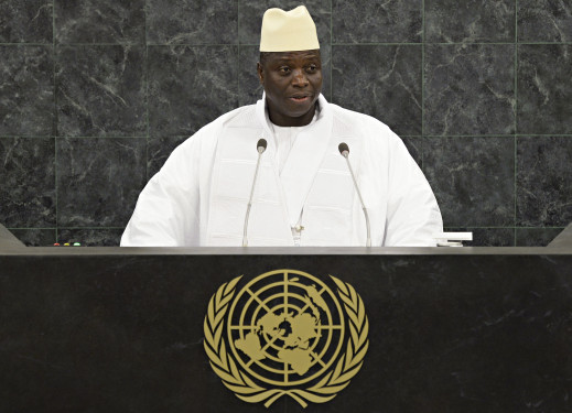 Gambian President Yahya Jammeh addresses the 68th United Nations General Assembly at U.N. headquarters in New York