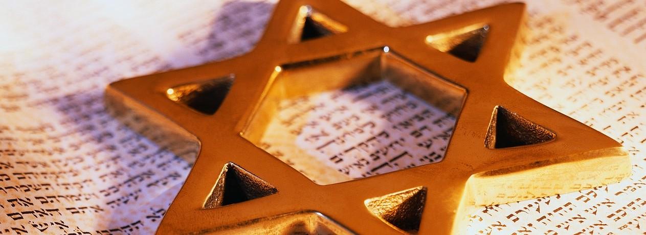 David's Star on Torah