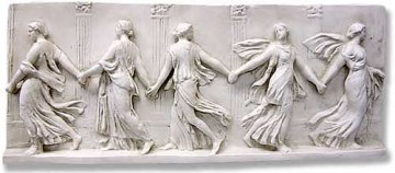 Kolový tanec; mramorový reliéf, 2.-3. stol. o. l.