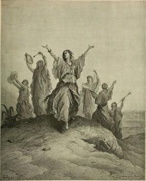 William A. Forster: Tančící izraelské dívky, představa z r. 1891 (Jeftova dcera)