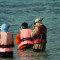 Muslim women enjoying the underwaterworld  www.shekel.cz